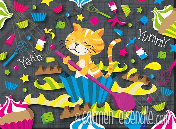 cat, cupcake, muffin, sweet, yeah, muffin paper, baking, kitty, kitten