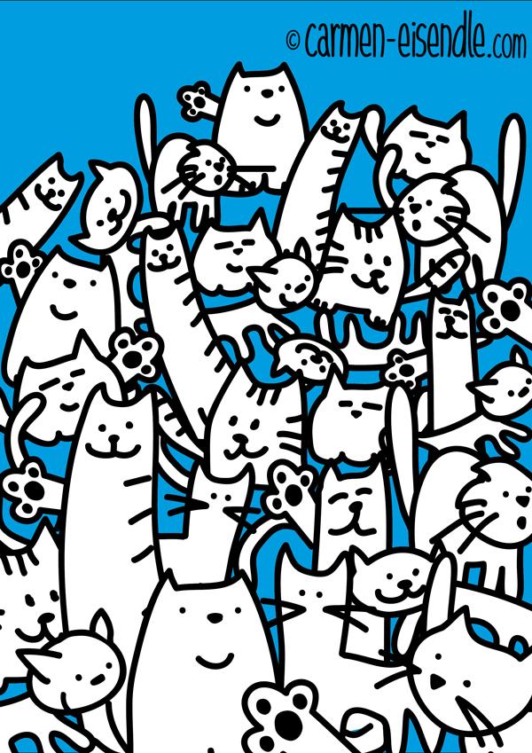 cats, Katze, Katzen, cat, Katzenhaufen