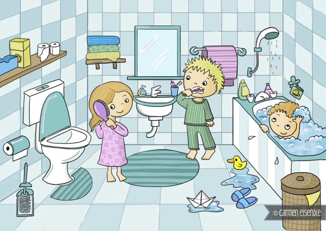 Bild Badezimmer Comic